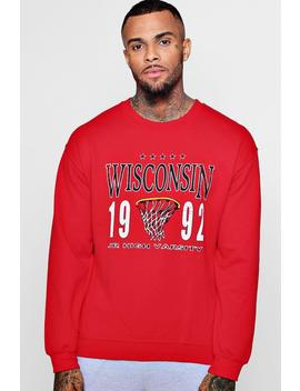 Wisconsin College Basketball Sweathsirt by Boohoo