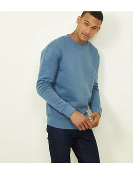 Bright Blue Cotton Blend Sweatshirt by New Look