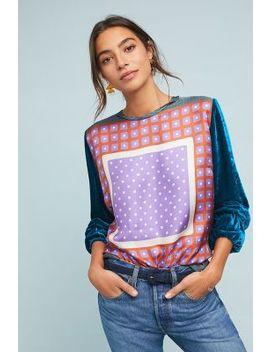 Geometric Silk Pullover by Le Sarte Pettegole