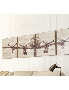 Planked Airplane Panels Set by Pottery Barn