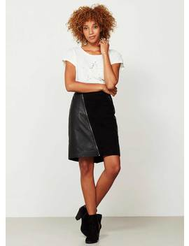 Black Leather Pencil Skirt by Mint Velvet