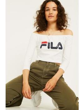 """Fila– Schulterfreies Longsleeve """"Sylive"""" In Weiß by Fila Shoppen"""