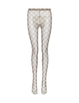 Gg Patterned Tights by Gucci