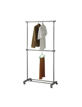 Argos Home Adjustable Chrome 2 Tier Clothes Rail   Grey by Argos