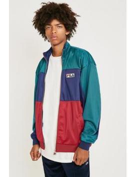 Fila Judson Colour Block Teal Track Jacket by Fila