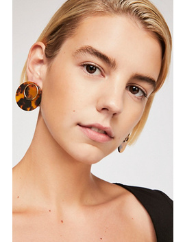 Behind Resin Stud Earring by Free People