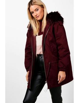 Faux Fur Hood Parka by Boohoo