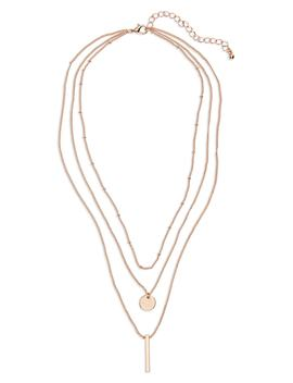 Circle & Bar Layered Necklace by Bp.