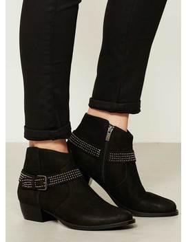 Kayte Black Stud Ankle Boot by Mint Velvet