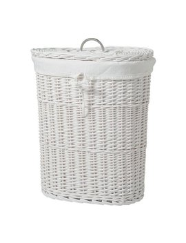 Argos Home Willow 60 Litres Linen Bin   White by Argos