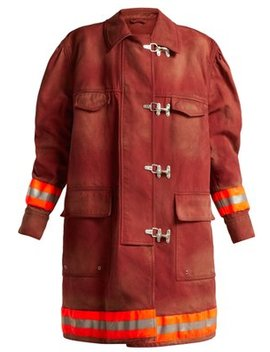 Oversized Cotton Twill Firefighter Coat by Calvin Klein 205 W39 Nyc