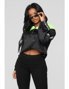 I F'n Out Shine You Crop Top   Black/Combo by Fashion Nova