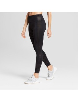 Women's Pinstripe Performance High Waisted 7/8 Leggings   Joy Lab™ Bronze S by Shop All Joy Lab™