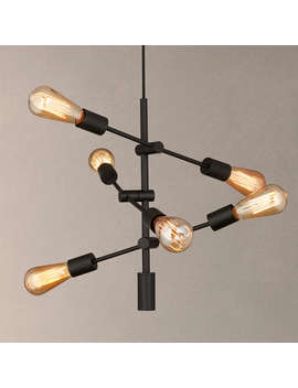 House By John Lewis Elias Retro Pendant Ceiling Light, Black by House By John Lewis