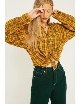 Urban Renewal Vintage Customised – Überfärbtes, Kariertes Flanellhemd by Urban Renewal Vintage Shoppen