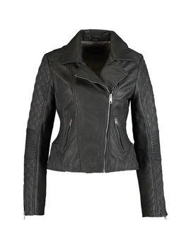 Black Leather Jessie Biker Jacket by Brampton