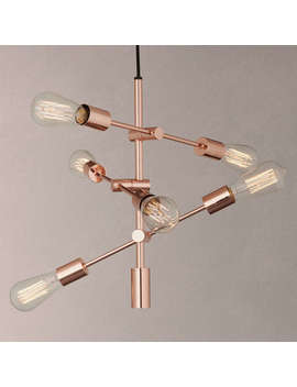 House By John Lewis Elias Retro Pendant Ceiling Light, Copper by House By John Lewis