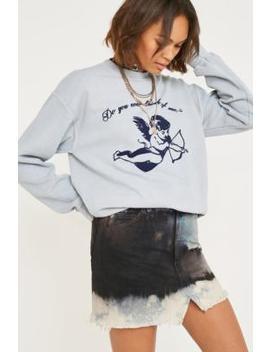 Urban Renewal Vintage Customised Bleached Tie Dye Black Denim Skirt by Urban Renewal Vintage