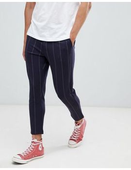 Only & Sons Slim Cropped Trousers In Stripe by Only & Sons