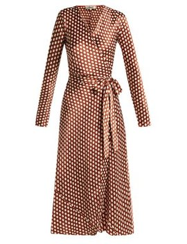 Baker Polka Dot Wrap Around Silk Dress by Diane Von Furstenberg