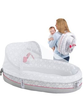 Luly Boo Baby Lounge Lights & Music Breathable Travel Bed by Luly Boo