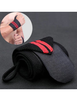 Bodybuilding Wrist Support Wraps Weight Lifting Bar Straps Gym Bandage Knee Wrap by Unbranded