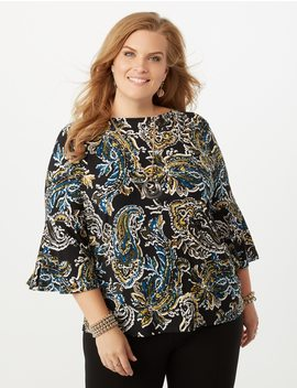 Jones Studio® Plus Size Paisley Top by Dressbarn