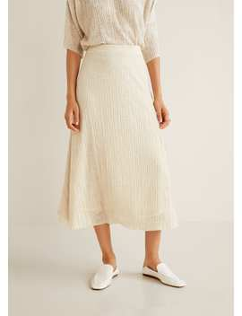 Teksturowana Spódnica Midi by Mango