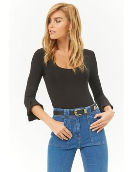 Trumpet Sleeve Bodysuit by Forever 21