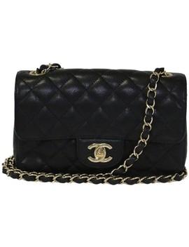 Rectangular Mini Black Caviar Cross Body Bag by Chanel