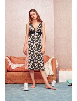 Uo Ryker Mixed Print Midi Dress by Urban Outfitters