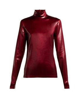 High Neck Coated Satin Top by Givenchy