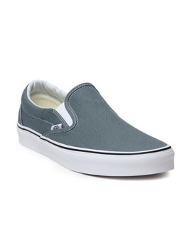 Vans Unisex Blue Classic Slip On Sneakers by Vans