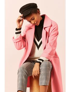 Woven Longline Coat by Forever 21