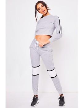 Kaylee Grey Contrast Panel Detail Loungewear Set by Misspap