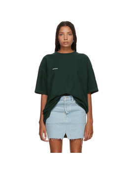 Green Oversized Inside Out T Shirt by Vetements