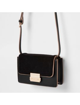 Black Mini Boxy Cross Body Bag by River Island