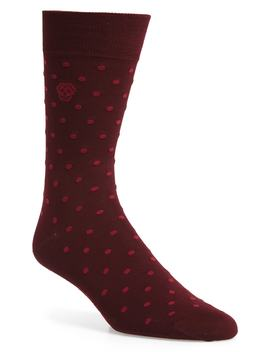 Cotton Blend Polka Dot Socks by Alexander Mcqueen