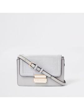 Light Grey Mini Boxy Cross Body Bag by River Island