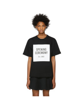 Black Logo Short Sleeve Sweatshirt by Opening Ceremony