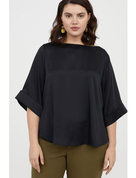 H&M+ Satin Blouse by H&M