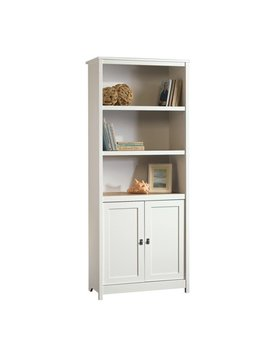 Sauder Cottage Road Library With Doors, Soft White Finish by Sauder