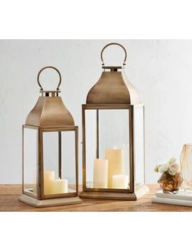 Chester Brushed Lantern by Pottery Barn
