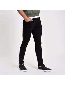 Stay Black Sid Skinny Jeans by River Island