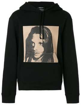 Calvin Klein 205 W39nycx Andy Warhol Foundation Sandra Brant Hoodiehome Men Calvin Klein 205 W39nyc Clothing Hoodies Black Hidden Lace Sneakersx Andy Warhol Foundation Sandra Brant Hoodie by Calvin Klein 205 W39nyc