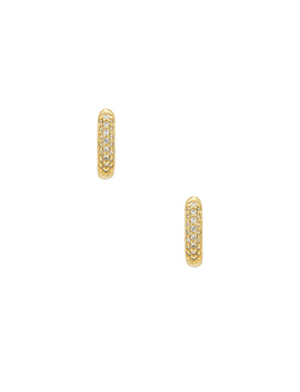 The Pave Huggie Hoop Earrings by The M Jewelers Ny