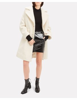 Fenn Swing Ivory Coat by Ganni