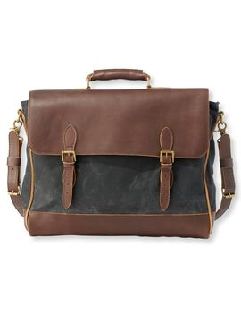 Signature Waxed Canvas Briefcase by L.L.Bean