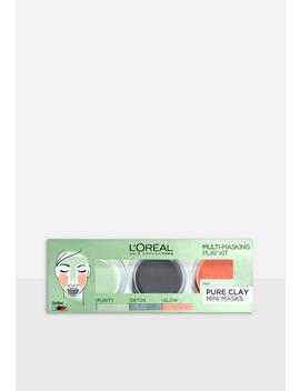 L'oreal Paris Pure Clay Multi Masking Playkit by Missguided
