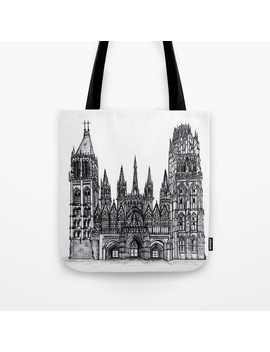 Rouen Cathedral Tote Bag by